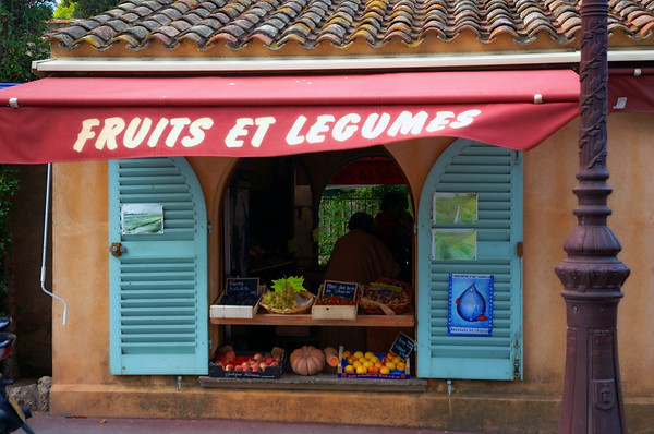 Fruit store in St. Tropez France.