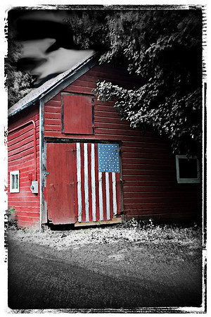American Pride - Taken outside of Margaretville, New York.